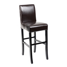 Chocolate Bonded Leather Bar Stool at Kirkland's