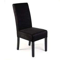 Black Microfiber Parsons Chair at Kirkland's