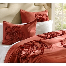 Queen Spice Gathered Flower 3-pc. Comforter Set at Kirkland's
