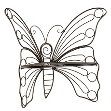 Black Butterfly Metal Patio Chair at Kirkland's