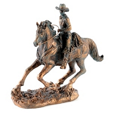 Antique Bronze Horse & Cowboy Statue at Kirkland's