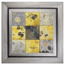 Golden Patchwork Framed Art Print at Kirkland's