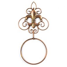 Fleur-de-Lis Copper Towel Ring at Kirkland's