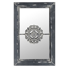 Graywash Mirror with Medallion, 10x16 at Kirkland's