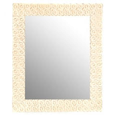 Distressed Ivory Rose Mirror, 15x18 at Kirkland's