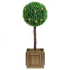 Pre-Lit Boxwood Topiary, 23 in. at Kirkland's
