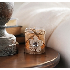 Burlap Flower Votive at Kirkland's