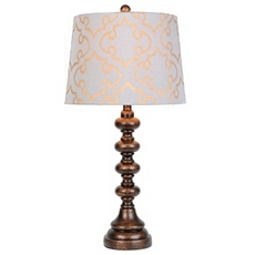 Blue & Gold Scroll Table Lamp at Kirkland's