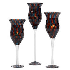 Blue Mosaic Charisma, Set of 3 at Kirkland's