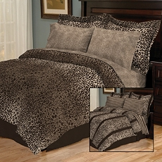 Hariza Brown 8-pc. Reversible Queen Bedding Set at Kirkland's