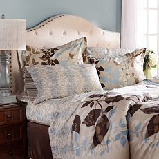 Angelica Taupe 8-pc. Reversible Queen Bedding Set at Kirkland's