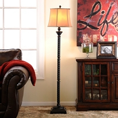 Espresso Twist Floor Lamp at Kirkland's