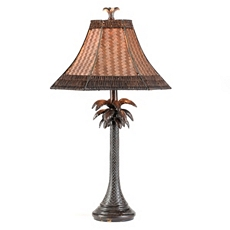 Palm Rattan Table Lamp at Kirkland's