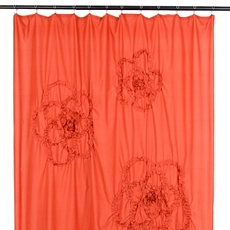 Spice Gathered Flower Shower Curtain at Kirkland's