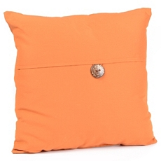 Orange Coconut Button Outdoor Pillow at Kirkland's