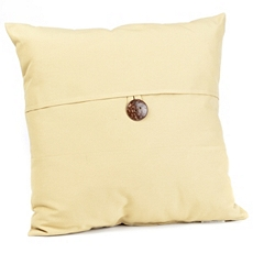 Tan Coconut Button Outdoor Pillow at Kirkland's