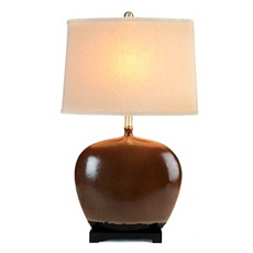 Almond & Black Table Lamp at Kirkland's