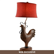 Distressed Rooster Table Lamp at Kirkland's