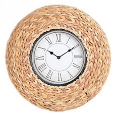 Woven Seagrass Clock at Kirkland's