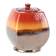 Red & Brown Ceramic Fire Pot at Kirkland's
