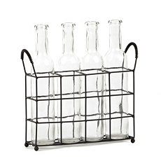 Glass Vase Set of 4 with Rack at Kirkland's