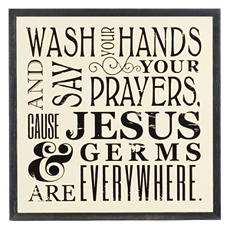 Jesus & Germs Wall Plaque at Kirkland's