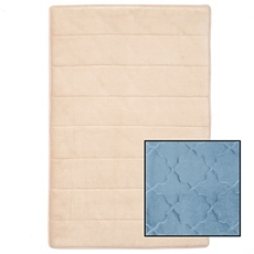 Reversible Tan & Blue Memory Foam Bath Mat at Kirkland's
