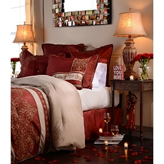 King Bella Red 8-pc. Comforter Set at Kirkland's