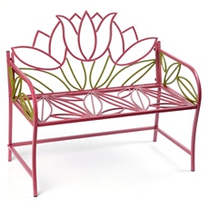 Pink Flower Kid's Metal Bench at Kirkland's