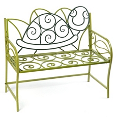 Green Turtle Kid's Metal Bench at Kirkland's