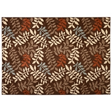 Chester Leaves Brown Area Rug, 5x7 at Kirkland's