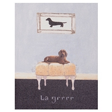 La Grrrr Dachshund Canvas Art Print at Kirkland's