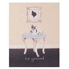 Le Growl Boston Terrier Canvas Art Print at Kirkland's