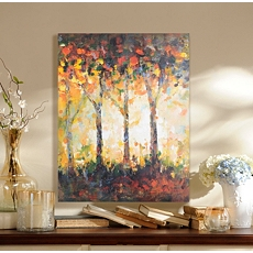 Shimmering Leaves Canvas Art Print at Kirkland's