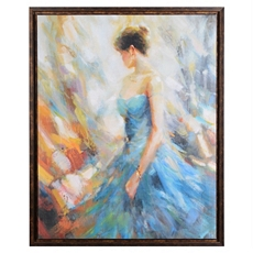 The Blue Gown Framed Canvas Print at Kirkland's