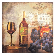 Wine & Grapes Canvas Art Print at Kirkland's