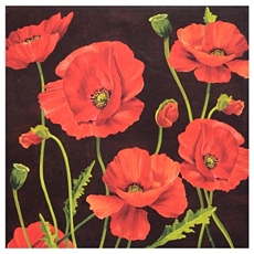 Red Poppies Canvas Art Print at Kirkland's