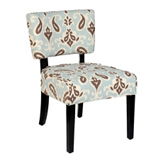 Jodi Blue & Brown Ikat Accent Chair at Kirkland's