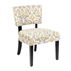 Jodi Green & Gray Ikat Accent Chair at Kirkland's
