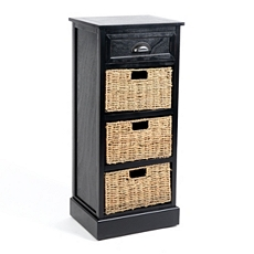 Black 4-Drawer Storage Chest at Kirkland's