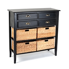 Black 4-Drawer Console Table at Kirkland's