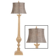 Sandy Beige Floor Lamp at Kirkland's