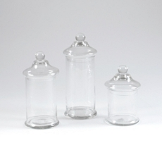 Clear Glass Apothecary Jar, Set of 3 at Kirkland's
