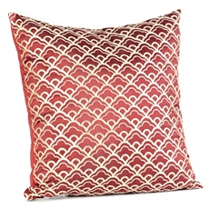 Cloudfall Crimson & Ivory Pillow at Kirkland's