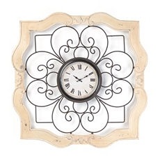 Isabelle Wood & Metal Clock at Kirkland's