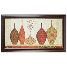 Spice Stripe Vessels Framed Art Print at Kirkland's
