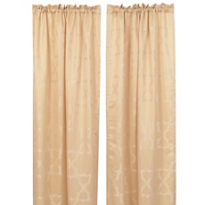 Taupe & Cream Florentine Curtain Panel, Set of 2 at Kirkland's