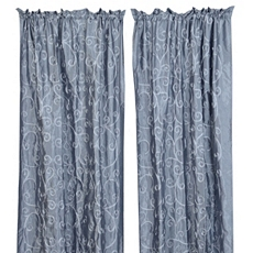Blue Antique Scroll Curtain Panel, Set of 2 at Kirkland's