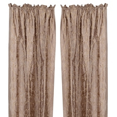 Taupe Antique Scroll Cutrain Panel, Set of 2 at Kirkland's