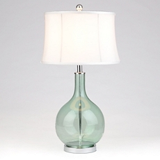Ocean Blue Seeded Glass Table Lamp at Kirkland's